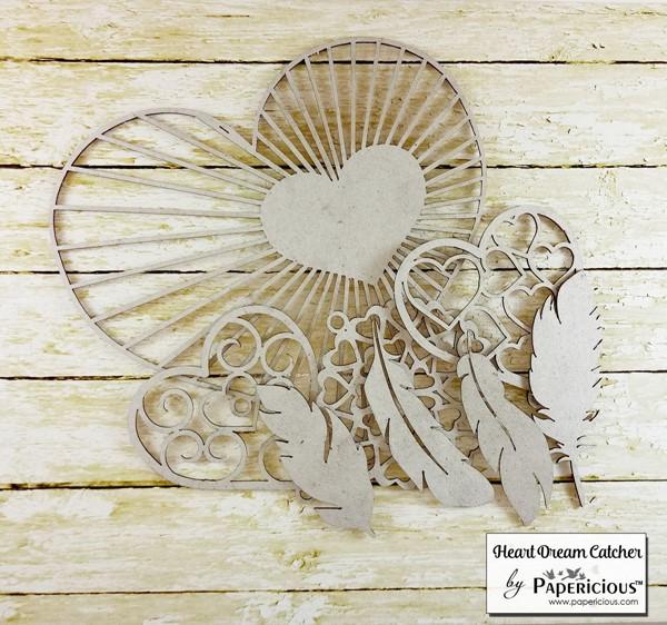 Heart Dream Catcher - Collage Chippis