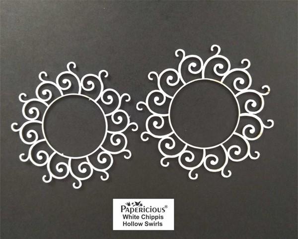 Hollow Swirls - White Chippis