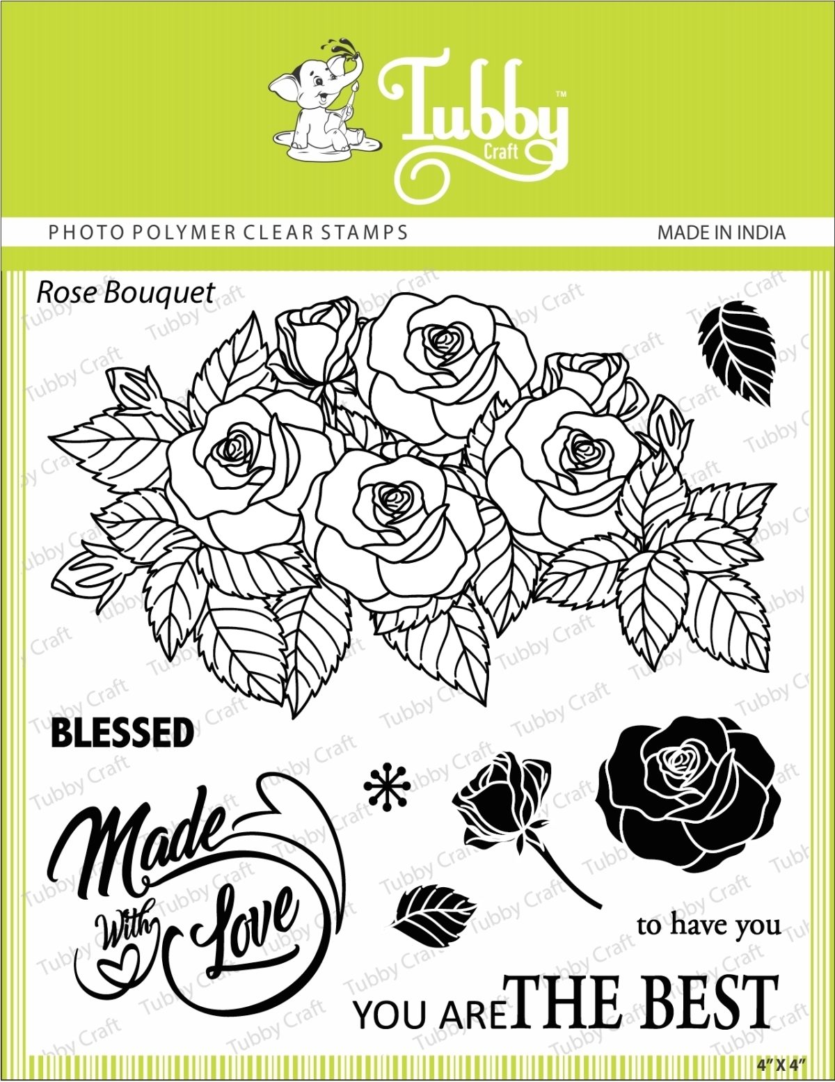Rose Bouquet - Stamp