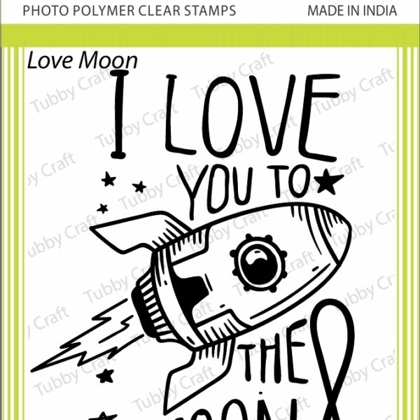 Love Moon - Stamp