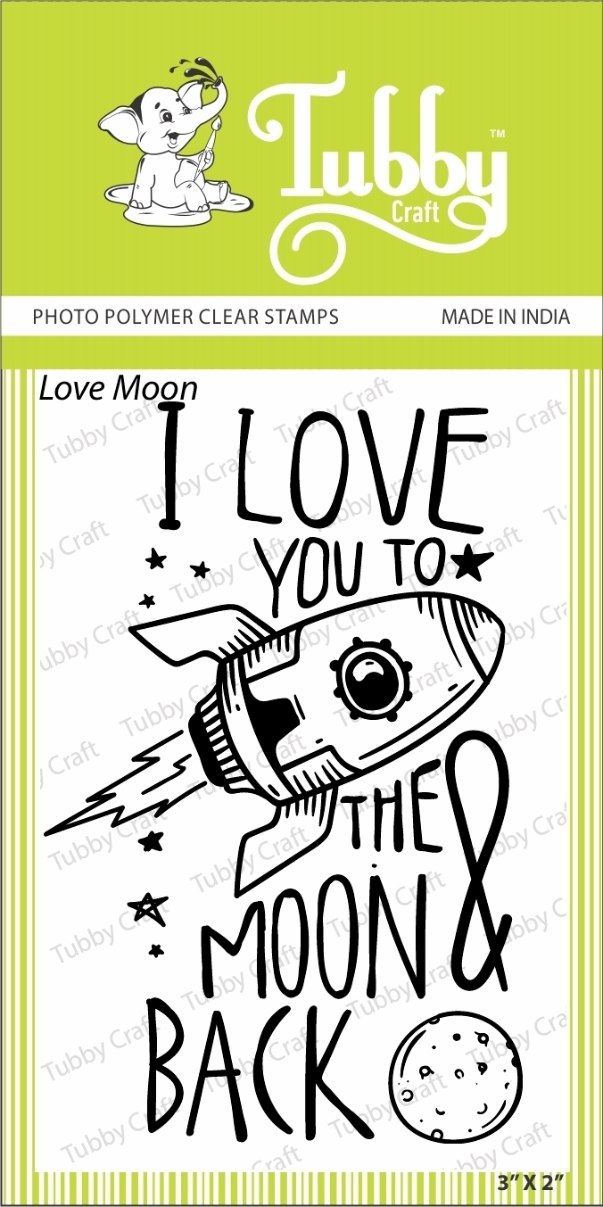 Love Moon - Stamp