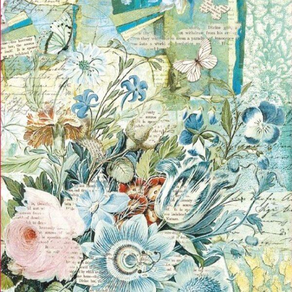 Blue flower bouquet - A4