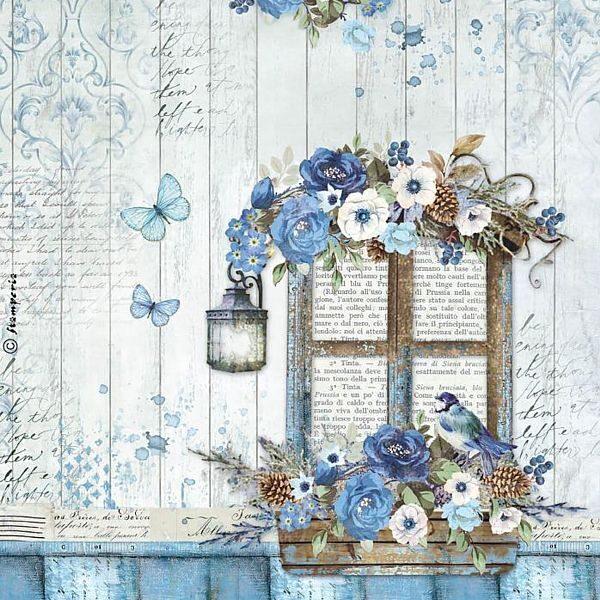 Blue land window - A4