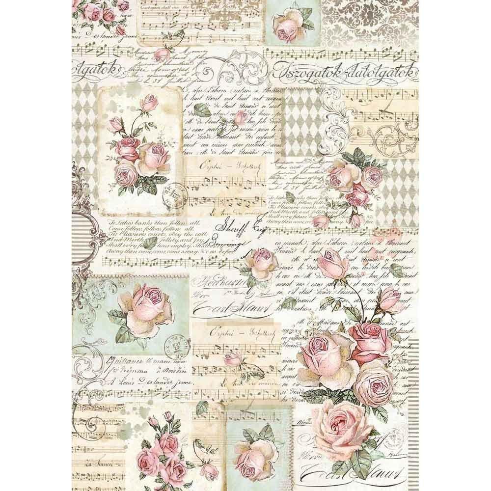 Roses and Manuscripts - A3