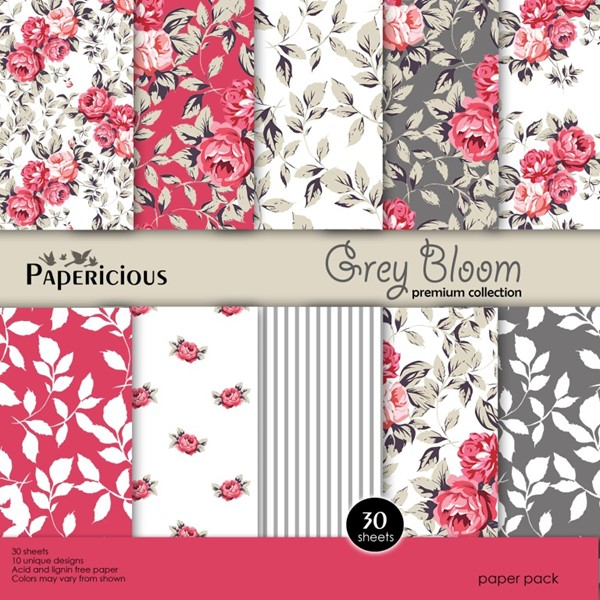 Grey Bloom - 6x6