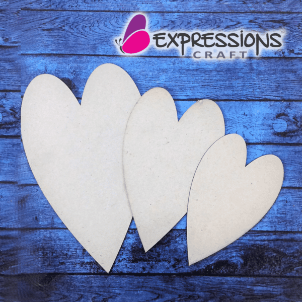 Heart Base for Mix Media - Chipboard