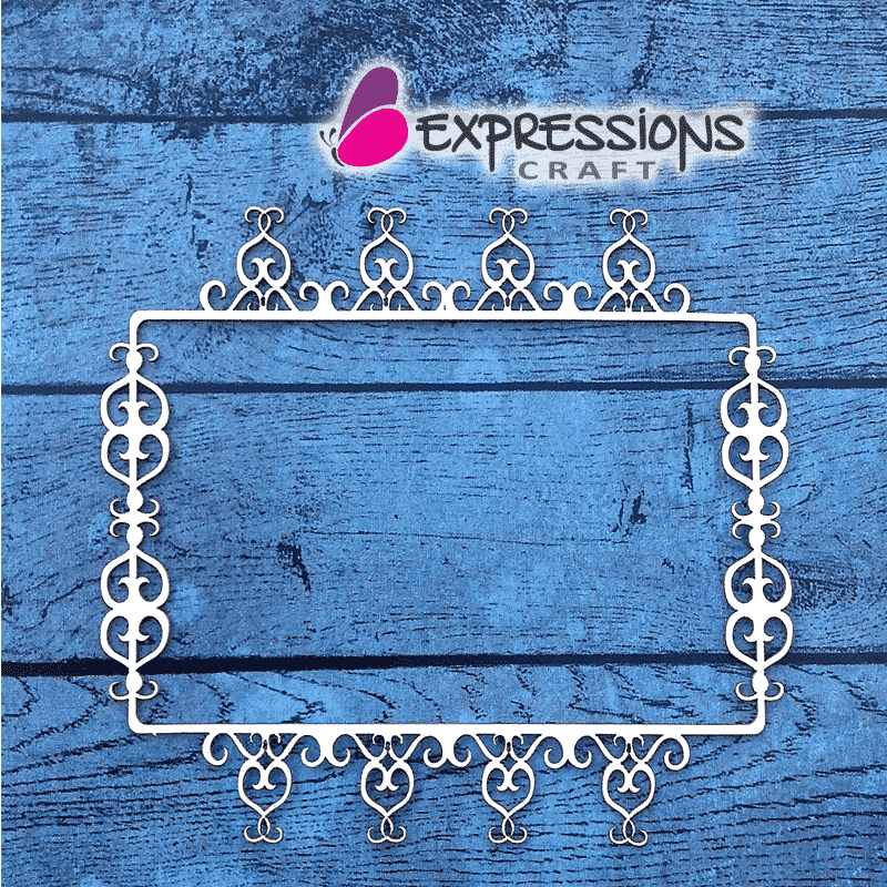 Luxury Ornament Rectangle Frame - Chipboard