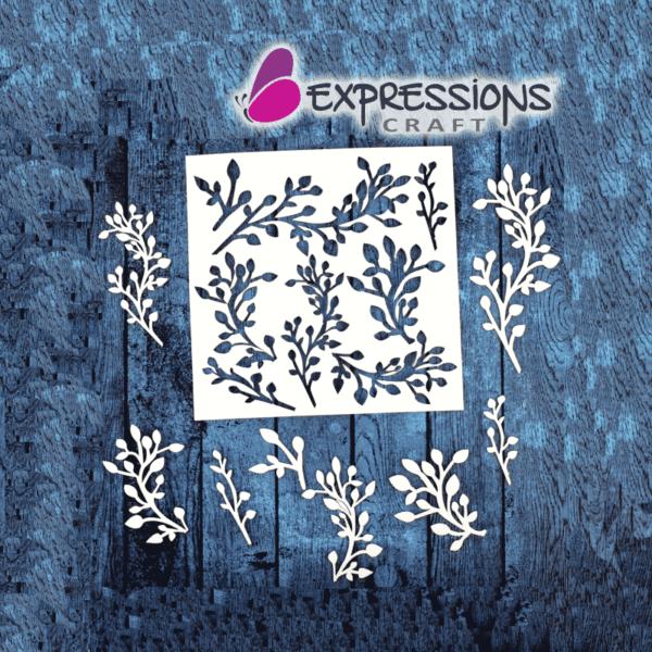 Leafy Flourish - Chipboard