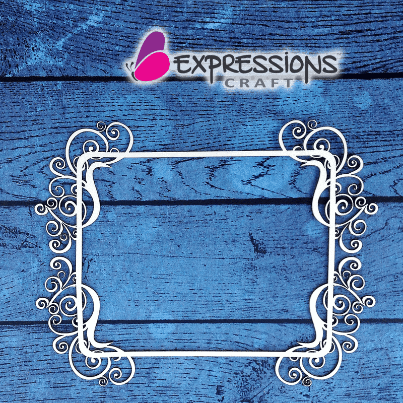 Ornamental Frame Rectangle - Chipboard