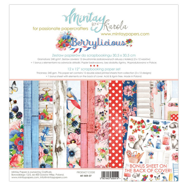 Berrylicious - 12x12 Paper Pack