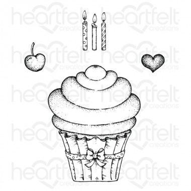 Sugarspun Cupcake Cling Stamp Set