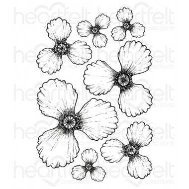 Blazing Poppy Cling Stamp Set