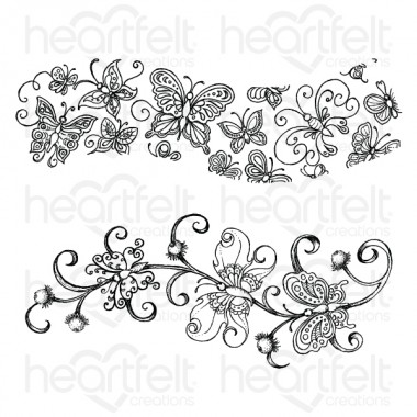 Butterfly Border Dreams Cling Stamp Set