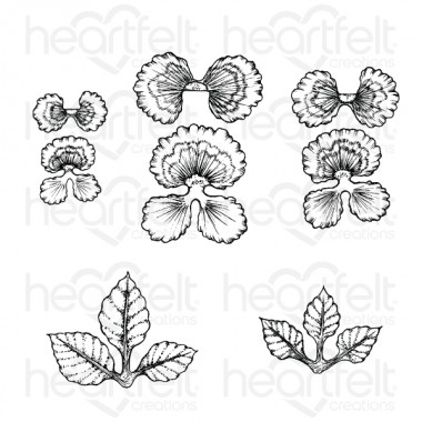 Cheery Pansy Cling Stamp Set
