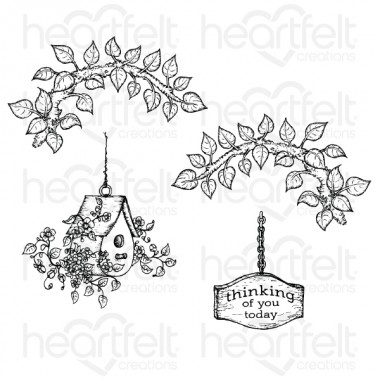 Cherry Blossom Retreat Cling Stamp Set