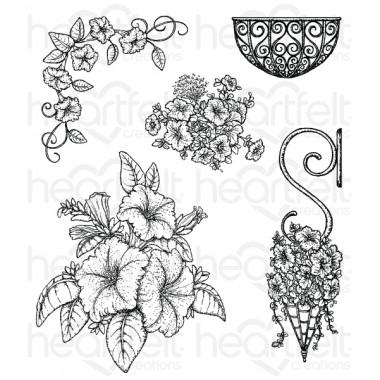 Classic Petunia Bouquet Cling Stamp Set