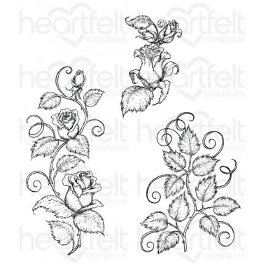 Classic Rose Vines Cling Stamp Set