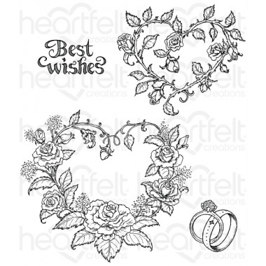 Classic Wedding Roses Cling Stamp Set