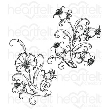 Fanciful Carnation Cling Stamp Set