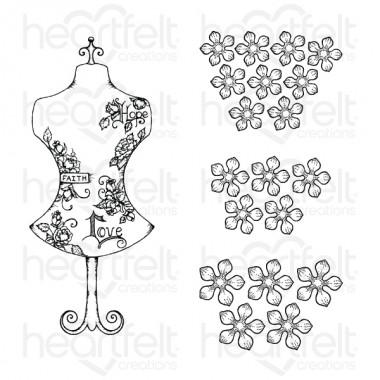 Floral Fashionista Cling Stamp Set