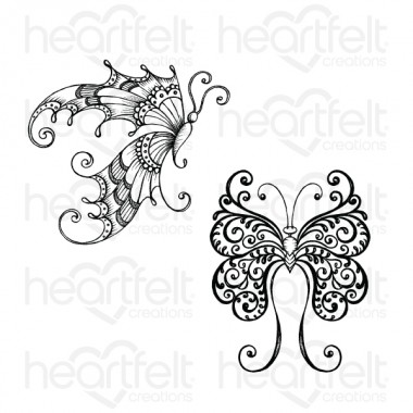 Fluttering Butterfly Cling Stamp Set