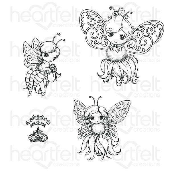 Honey Bee Maidens Cling Stamp Set