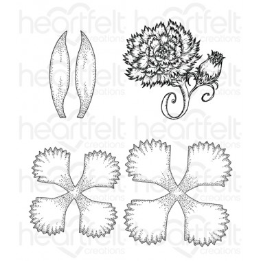 Large Camelia Carnation Cling Stamp Die