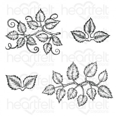Leafy Accents Cling Stamp Sets