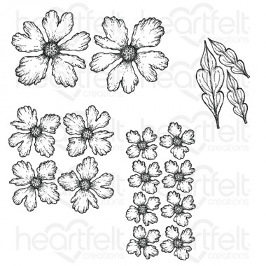 Small Sweet Peony Cling Stamp Set