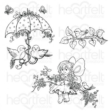 Songs Of Spring Cling Stamp Set