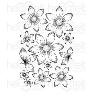 Sun Kissed Fleur Cling Stamp Set
