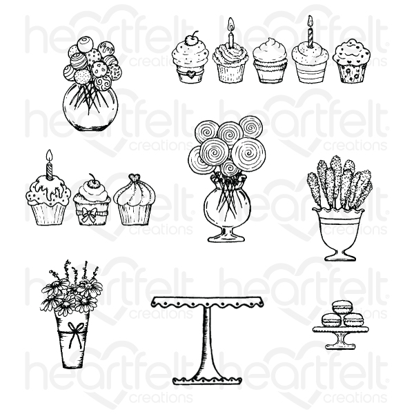 Sweet Shoppe Treats Cling Stamp Set