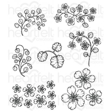 Wildwood Florals Cling Stamp Set