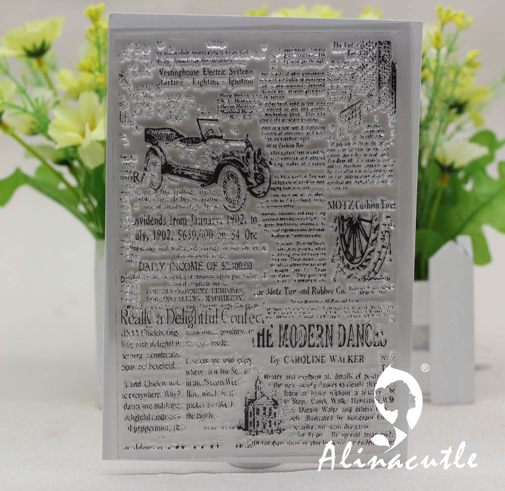 Newspaper Background Stamp