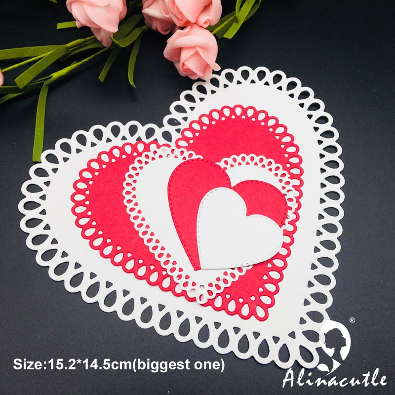 Tear Drop Heart Doily Die