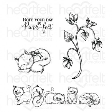 Purring & Playful Cling Stamp Set